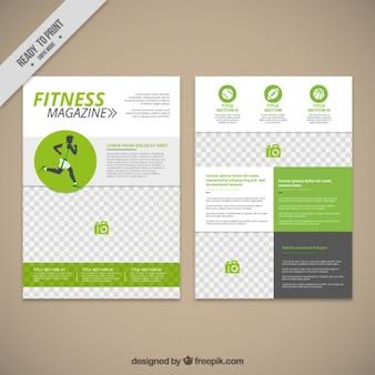 Revista de fitness en color verde