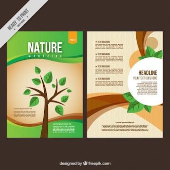Revista de naturaleza con un árbol en la portada