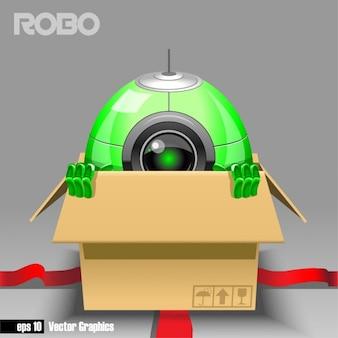 Robot en una caja de regalo