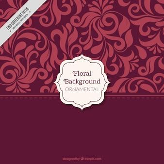 Rojo ornamental sale del fondo