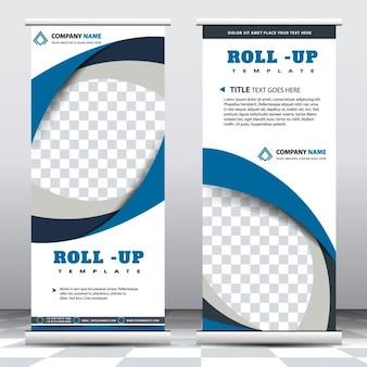 Roll up con formas geométricas