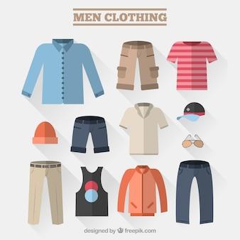 Ropa de hombres modernos
