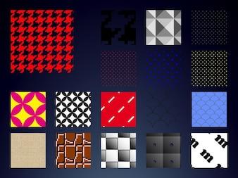 Ropa geometría muestras patrón vector