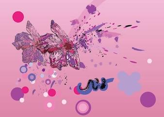 Rosa flores gráficos