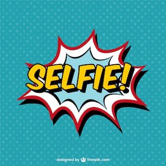 Rótulo de selfie estilo cómic
