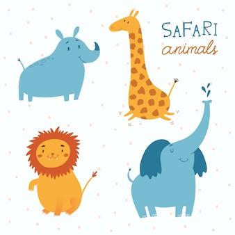 Safari animales vector conjunto