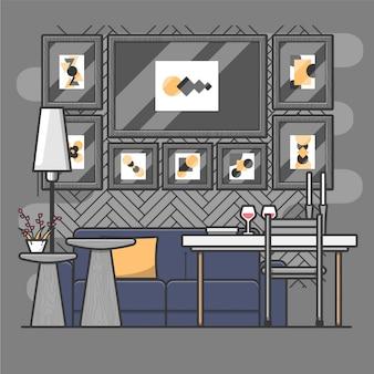 Sala de estar creativa