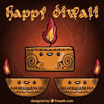 Saludo de Diwali lindo