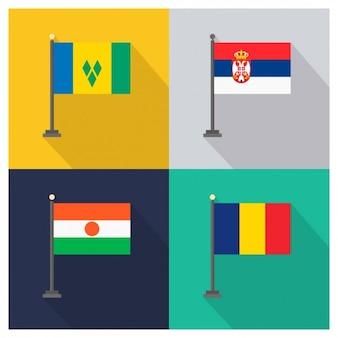 San Vicente y las Granadinas Serbia Níger y Chad