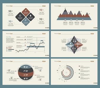 Seis cartas de Google Analytics Plantillas de diapositivas