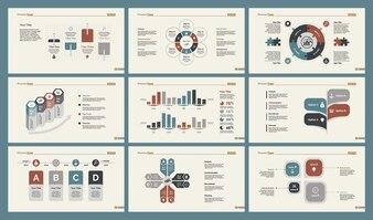 Seis Cartas de Investigación Conjunto de Plantillas de Diapositivas
