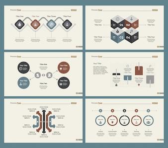 Seis Diagramas de Entrenamiento Conjunto de Plantillas de Diapositivas