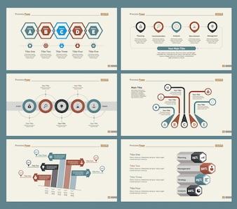 Seis Diagramas de Finanzas Plantillas de Diapositivas