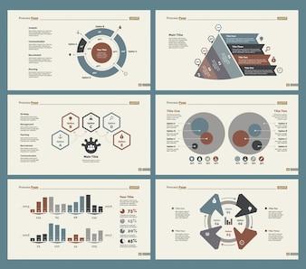 Seis diagramas de planificación Conjunto de plantillas de diapositivas