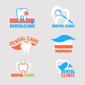 Seis logotipos para clínica dental