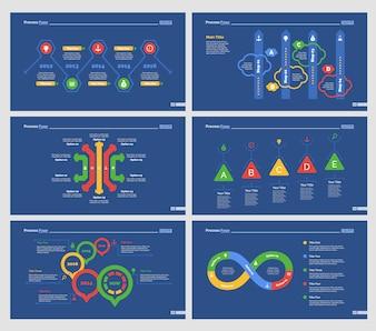 Seis plantillas de diapositivas de entrenamiento