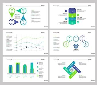 Seis Plantillas de Diapositivas de Estadísticas