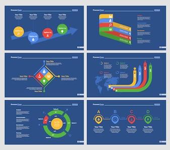 Seis plantillas de diapositivas de investigación