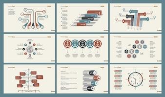 Seis plantillas de diapositivas de planificación
