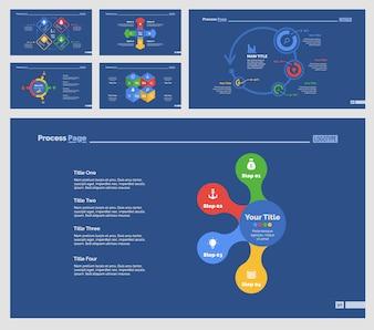 Seis plantillas de diapositivas logísticas