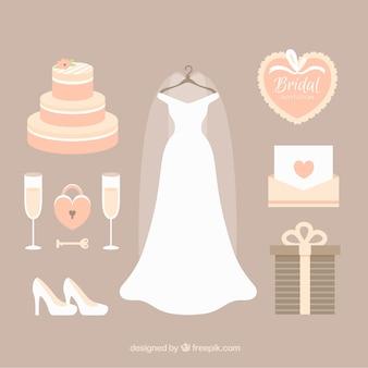 Selección bonita de accesorios de boda femeninos fantásticos