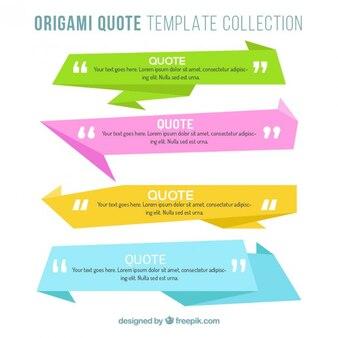 Selección de banners origami a todo color