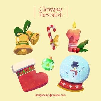 Selección de decoración navideña fantástica