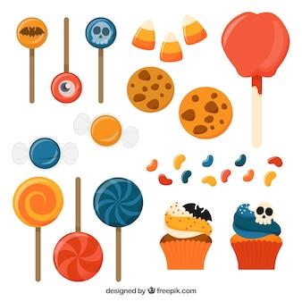Selección de diferentes dulces coloridos