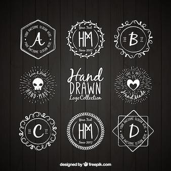 Selección de logotipos dibujados a mano