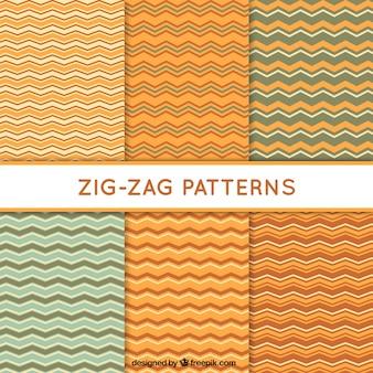 Selección de seis patrones en zigzag