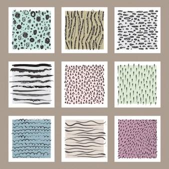 Selección de tarjetas con diseños abstractos