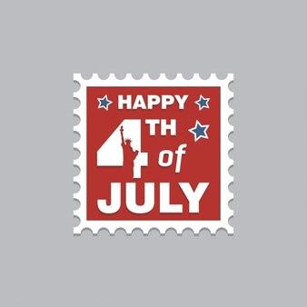 Sello feliz del 4 julio