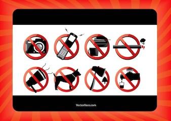 señales de prohibido