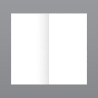 Sencilla revista abierta, mockup con fondo gris