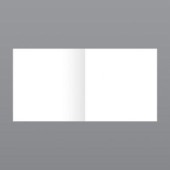 Sencilla revista pequeña, mockup con fondo gris