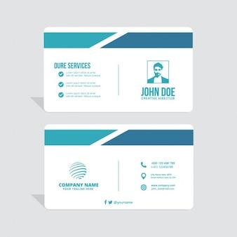 Sencilla tarjeta de visita, tonos azules