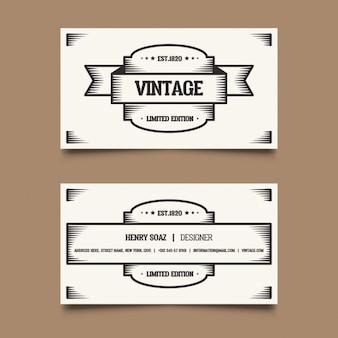 Sencilla tarjeta vintage