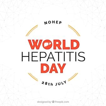 Sencillo fondo con insignia del día de la hepatitis