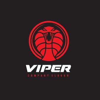 Serpiente, veneno, plantilla del logotipo de la víbora.