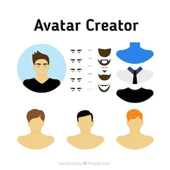 Set creador de avatares masculinos