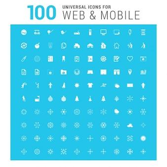 Set de 100 iconos universales
