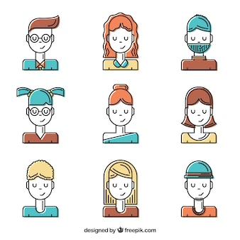 Set de avatares para usuarios diferentes