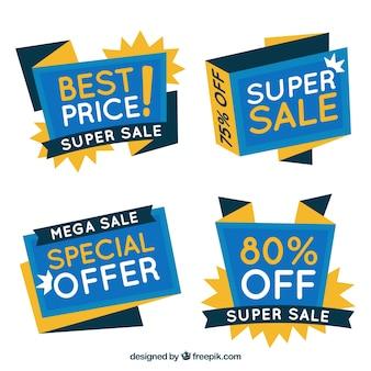 Set de banners abstractos de ofertas