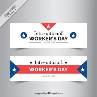 Set de banners del día internacional del trabajo
