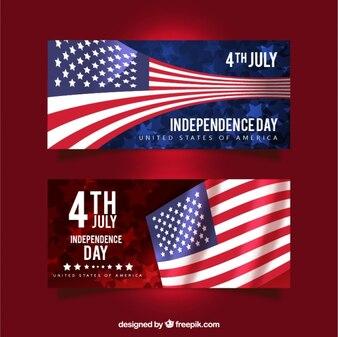 Set de banners del día de la independencia