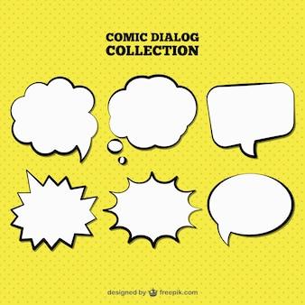 Set de bocadillos de diálogo dibujados a mano