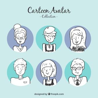 Set de bocetos de avatares