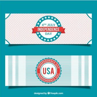 Set de bonitos banners del día de independencia