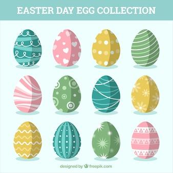 Set de bonitos huevos de pascua