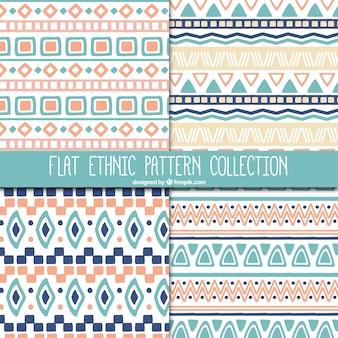 Set de bonitos patrones étnicos